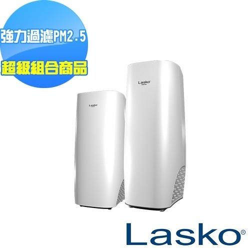 超級組合【美國Lasko】白淨峰高效節能空氣清淨機 HF-2160+HF-2162  保固兩年