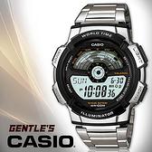 CASIO手錶專賣店 卡西歐  AE-1100WD-1A 男錶 飛機儀表板設計秒錶 LED照明 不鏽鋼錶帶