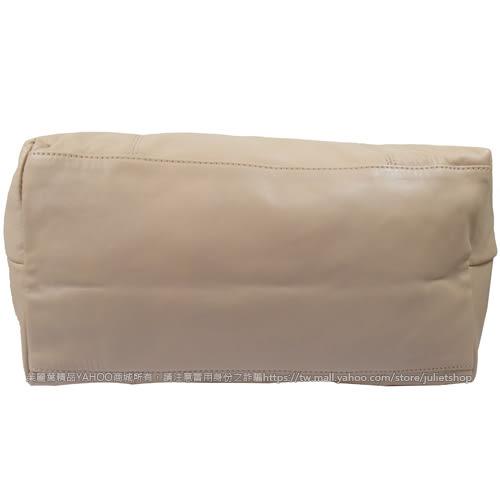 茱麗葉精品 全新精品法國Longchamp Le Pliage Cuir 折疊小羊皮短把兩用包.粉膚 #1515