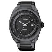 CITIZEN 星辰 黑炫風光動能時尚腕錶-IP黑/42mm AW1015-53E
