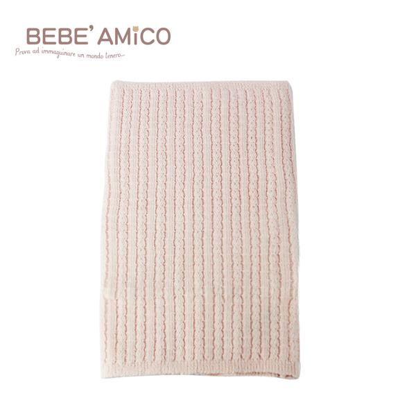 bebe Amico-編織透氣伸縮肚圍-粉