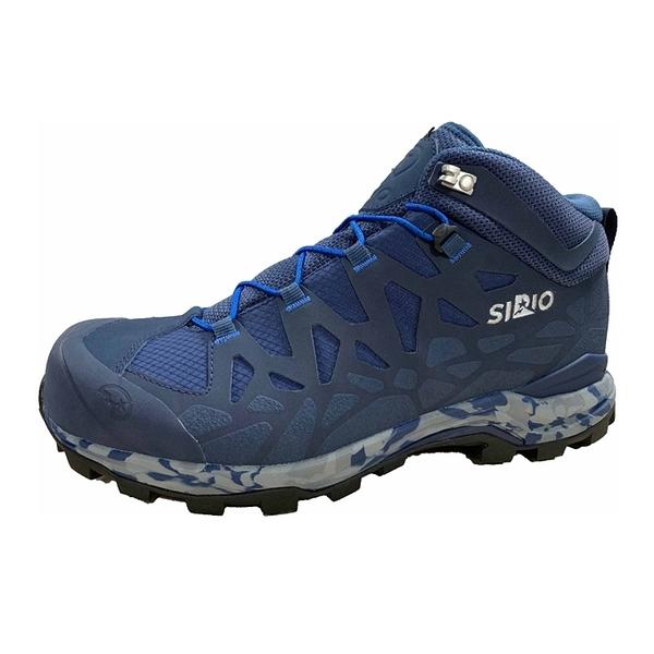 [好也戶外]SIRIO Gore-Tex中筒登山健行鞋(3E+寬楦) 男款-丹寧藍 NO.PF156DE