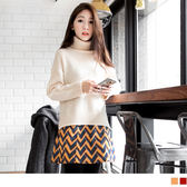 OrangeBear《CA616》復古幾何圖側拉鍊設計燈芯絨短裙.2色--適 XL~4L