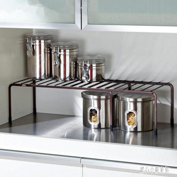 碗架 廚房收納架可伸縮兩層單層分隔置物架櫥柜分層架碗盤 nm10595【甜心小妮童裝】