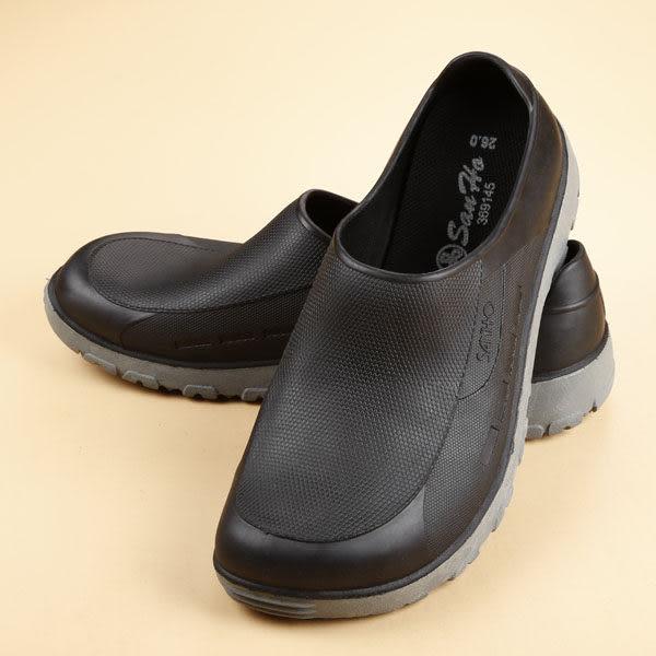 三和牌 MIT 雙色防水鞋 黑 男女款