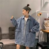 熱銷牛仔外套BF風寬鬆牛仔外套女2020新款韓版秋季學生原宿風夾克工裝外套上衣