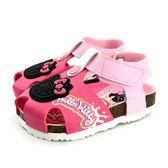 HELLO KITTY 透氣 前包護趾 OREO餅乾 休閒涼鞋《7+1童鞋》D157 桃色