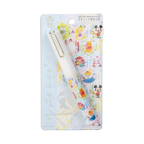 《sun-star》迪士尼 stickyle攜帶型剪刀(Q版角色大集合)★funbox生活用品★_UA50132