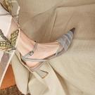 包頭涼鞋2021年新款女仙女風尖頭粗跟網紅高跟鞋設計感小眾