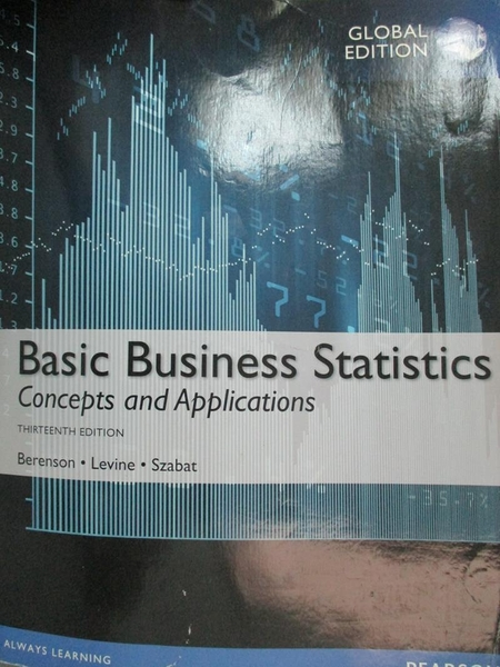 【書寶二手書T5/大學商學_YJK】Basic Business Statistics:Concepts and App