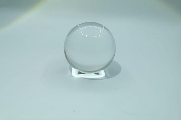 天然白水晶球