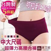 女性無縫中大尺碼內褲 台灣製造 No.900 (5件組)-席艾妮SHIANEY