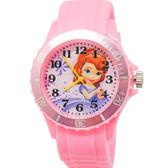 Disney迪士尼_蘇菲亞小公主 粉紅運動彩帶手錶 -S-03