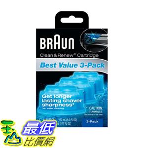[106美國直購] Braun Clean & Renew Refills 3-pack,170ml(5.7 Fl Oz)each-Total 510ml(17.1 Fl Oz)