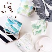 陶瓷水杯馬克杯帶蓋勺情侶咖啡杯【3C玩家】