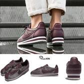 【六折特賣】Nike 阿甘鞋 Wmns Classic Cortez PREM 酒紅 白 復古運動鞋 女鞋【PUMP306】 905614-900