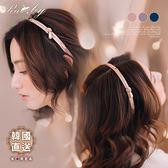 髮飾 韓國直送水鑽珍珠扭結髮箍-Ruby s 露比午茶