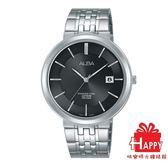日本  ALBA雅柏錶*原廠保固一年   時尚簡約日期視窗腕錶 VJ42-X224N /AS9D81X1 -黑