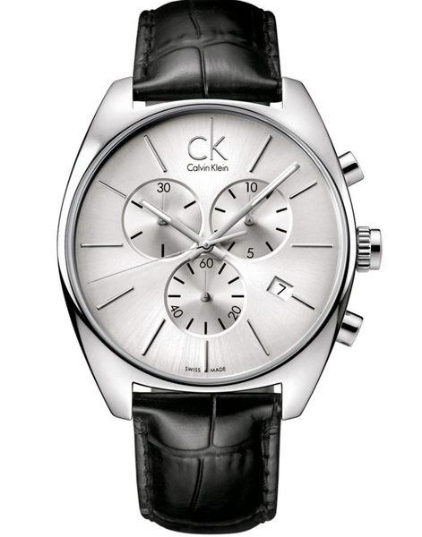 CK手錶 Calvin Klein Exchange 三眼男士手錶 K2F27120 瑞士ck手錶 男錶女錶對錶