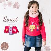 聖誕-可愛動物系列棉質上衣(厚棉,內絨毛)禦寒保暖(260535)★水娃娃時尚童裝★