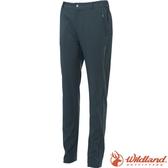 Wildland 荒野 S2377-95鐵灰色 女彈性四季款合身長褲 合身修身版型/防潑機能褲/爬山健行/休閒褲*