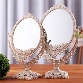 Qmishop 特大號歐式復古臺式化妝鏡子【J317】