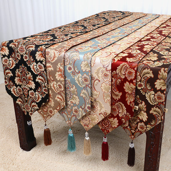 現代簡約時尚美式歐式新中式餐桌布藝電視柜床旗茶幾桌旗布  歐韓流行館