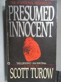 【書寶二手書T6/原文小說_KAD】Presumed Innocent_Scott Turow