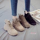 瘦瘦靴 馬丁靴女鞋2019新款秋冬季瘦瘦靴百搭網紅冬天冬鞋短靴子加絨棉鞋35-40碼 3色