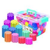 雪花片積木拼插男女孩兒童1-2-3-6-7周歲寶寶益智力塑料拼裝玩具 卡布奇诺igo