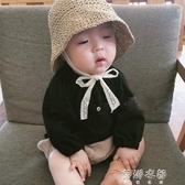 爆款夏款兒童草帽韓國寶寶遮陽帽防曬帽沙灘蕾絲漁夫帽子親子 蓓娜衣都