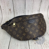 BRAND楓月 LOUIS VUITTON LV M21139 原花 鎖頭印花 腰包 胸包 大容量