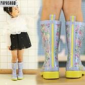 雨靴 時尚兒童雨鞋女童水鞋雨靴橡膠套鞋女寶寶中小童防滑雨鞋  萬客居