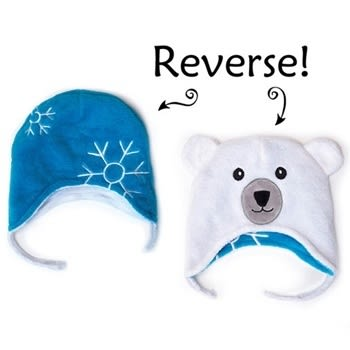 Flapjack kids雙面保暖造型帽-雪花/北極熊LUV0133[衛立兒生活館]