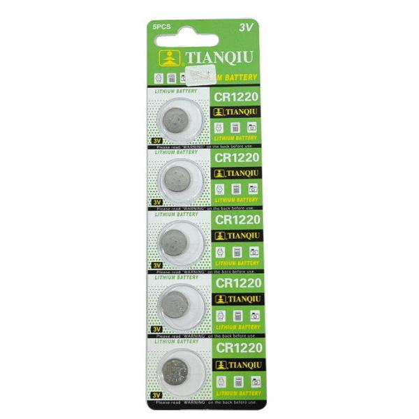 【GU303】環保型鈕扣電池/水銀電池CR1220發光眼鏡飾品專用3V(一卡5顆)~不拆售 EZGO商城