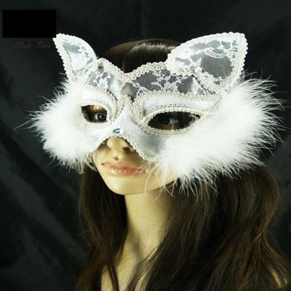 【塔克】貓臉 貓女 狐狸面具 性感 貓面罩 蕾絲 面紗/眼罩/面罩 cosplay 表演 舞會 派對 整人