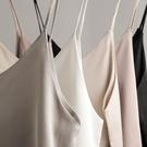 V領絲綢緞面黑色打底吊帶背心女無袖內搭打底衫外穿性感上衣女夏 歐韓時代