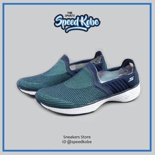 SKECHERS 健走鞋 深藍蒂綠 運動 懶人鞋 女 14139NVAQ【Speedkobe】