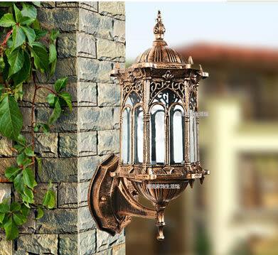 設計師美術精品館花園別墅戶外燈歐式壁燈防水景觀庭院燈牆壁燈露天圍牆燈室外壁燈