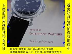 二手書博民逛書店HONGKONG罕見IMPORTANT WATCHES 2005
