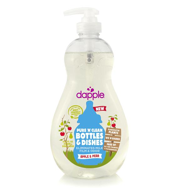 美國 Dapple Baby 蘋果甜梨奶瓶及餐具清潔液500ML