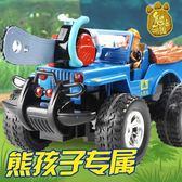 玩具車熊出沒的充兒童電動伐木鋸遙控皮卡汽車男孩森林越野 可可鞋櫃
