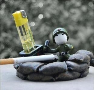 威龍從軍記之無煙不催沙包煙灰缸