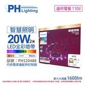 PHILIPS飛利浦 Smart Wi-Fi LED 20W 110V 2米 APP控制 可調色/光 智能 WiZ 燈帶 軟條燈 _ PH520488