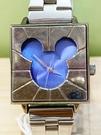【震撼精品百貨】米奇/米妮_Micky Mouse~日本迪士尼米奇方形鐵錶/手錶-藍#21400