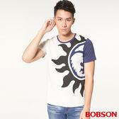 BOBSON男款造型印圖上衣(26033-72)