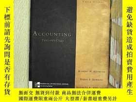 二手書博民逛書店Accounting:罕見Text and Cases (會計: