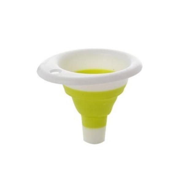 漏斗 迷你漏斗 伸縮漏斗 矽膠漏斗 折疊漏斗 食品級矽膠 液體分裝器 廚房 摺疊 便攜 顏色隨機