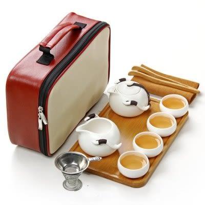 茶具套裝 戶外旅遊便捷式一壺四杯11件套【藍星居家】