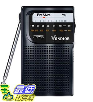 [9美國直購] AM FM Radio Portable 收音機 Best Reception Transistor Radio/Longest Lasting Battery Operated Radio (2AA)